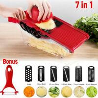 US Manual Vegetable Slicer Potato Fruit Cutter Stainless Steel Mandoline Kitchen
