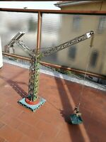 Gru manuale in latta anni '50 / tin toy vintage/Manual crane 1950s
