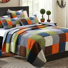 Unbranded Patchwork 100% Cotton Quilts & Bedspreads