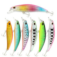GI- 6cm 5g Fishing Artificial Lifelike Lure Minnow Wobbler Fish Swim Bait Tackle