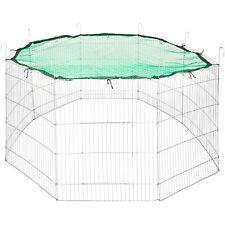 Enclos avec filet de protection extérieur cage à lapin petits animaux vert Ø 204