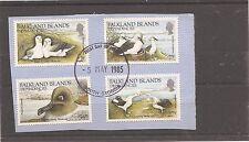 Falkland Island Dependencies 1985 Bird set SG 125-8 VFU on piece (bab)