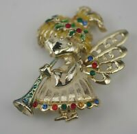 BEATRIX COSTUME JEWELRY VINTAGE CHRISTMAS ANGEL PIN BROOCH SIGNED