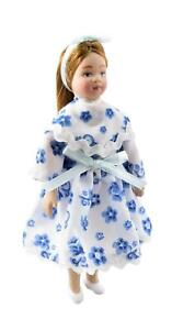 Puppenhaus Modern Kleines Mädchen IN Party-Kleid 1:12 Maßstab Porzellan People