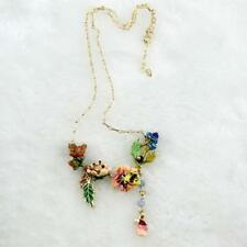 PRETTY ENAMELLED NECKLACE ON GOLD PLATED CHAIN  - FREE UK P&P....CG1320