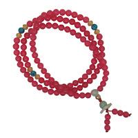 Feminine Pink Gemstone 108 Japa Mala Beads Hand Made Om Yoga Mantra Meditation