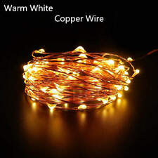 10-50M 100-400LED Copper Wire String Fairy Light Waterproof +Power Supply+Remote