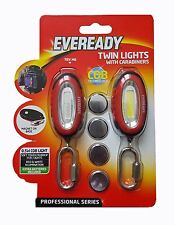 Eveready Twin Torch Lights with Carabiners - Camping Cycling Walking Safety