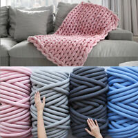 Knitting Wool Yarn DIY Cotton Chunky Roving Lightweight Thick For Blanket
