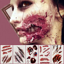 Halloween Party Zombie Scars Tattoos Makeup Wound Scary Blood InjuryJKUK