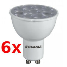 6 x Sylvania LED Light ES50 GU10 4W 30° 827 230V Replacement for 35W Halogen