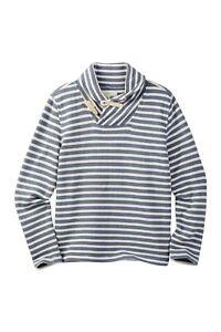 J.Crew Crewcuts Striped Toggle Shawl Collar Pullover Size 14