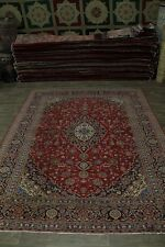 Traditional S Antique Handmade Red Kashan Persian Rug Oriental Area Carpet 10X13