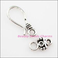 8 New Connectors Necklace Teardrop Toggle Clasps Tibetan Silver Tone