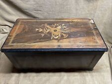 1800's Orchestral Cylinder Music Box, Bells, Castanet, Drum Zither