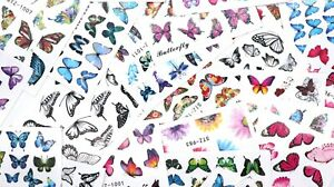 30 Sheets - Butterfly Water Transfer - Nail Supplies