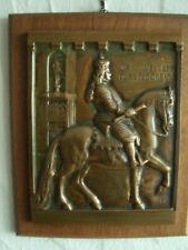 """Bronze Relief """"Jan Wellem Düsseldorf 1703"""" von Christian Heinrich Wiehe signiert"""