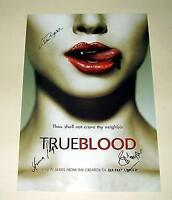 "TRUE BLOOD CAST X3 PP SIGNED POSTER 12""X8"" ALAN BALL  ANNA PAQUIN"