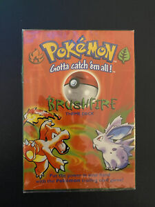 NEW Sealed Pokemon BrushFire Theme deck 1999 Wizards Possibility of Shadowless