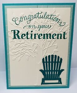 Handcrafted Greeting Card - Retirement - The Best is Yet to come - Embossed Tree
