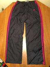 ADIDAS Tricot Stripes Athletic Mens M Warm Up Track Pants Polyester Black