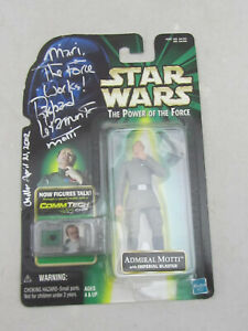 RARE - Star Wars The Power Of The Force Admiral Motti Figure Hasbro 2001 SIGNED