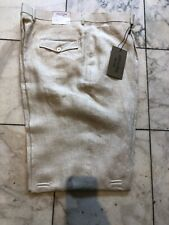 NWT APOLLO KING  PLEATED 100% LINEN TAN COLOR  PANTS MENS SIZE 44