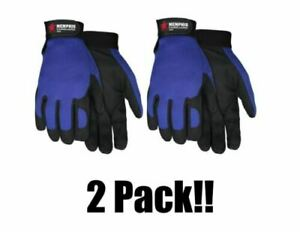 2 Pair MCR Safety 900 Fasguard Clarino Synthetic Leather Multi-Task Gloves