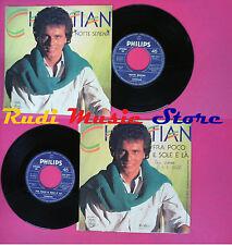 LP 45 7'' CHRISTIAN Notte serena Fra poco il sole e' la' 1985 italy*no cd mc vhs