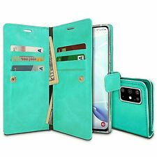 Galaxy Note 20 Genuine MERCURY Goospery Mansoor Mint Green Flip Case Wallet