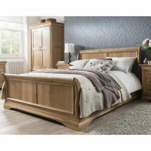 Toulon Solid Oak Bedroom Furniture 5' King Size Bed
