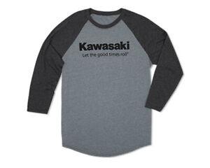 Kawasaki Let The Good Times Roll Raglan T-Shirt K002-2032-CH