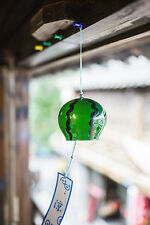 2 pcs JAPANESE Traditional  Glass Furin Wind Bell Chime SUIKA FOOD Watermelon