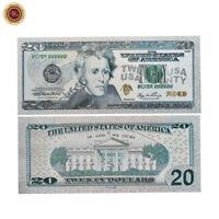 WR Neueste US $ 20 Zwanzig Dollar-Schein Versilbert Amerika Banknote sammeln