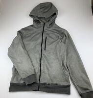 Mens size Small, Guy Leech Fitness, grey zip hoodie, GUC