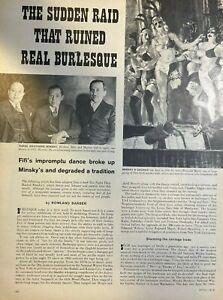 1960 Burlesque Acting FIFI Raid illustrated