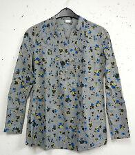 Geblümte Damenblusen, - tops & -shirts ohne Kragen aus Baumwolle im Passform