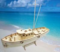 Barco de Vela Modelo Bricolaje Madera Equipo Enviar Edificio Educativo Montaje 1