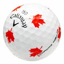 12 Callaway Chrome Soft Truvis Canadian Maple Leaf Logo Near Mint Golf Balls