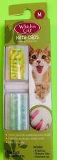 Whisker City Kitty Caps Cat Nail Caps 40 Green & Yellow Glitter Medium New