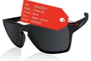 Oakley Sliver XL Sunglasses Polished Black Frame Iridium Lens OO9341-0557 NIB