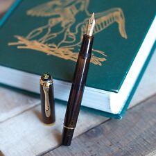Pelikan M200 Special Edition Smoky Quartz Brown & Gold Demonstrator Fountain Pen