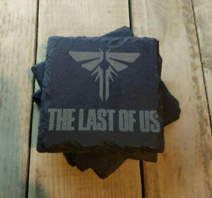 The Last Of Us Firefly Logo Gift Slate Coasters Laser Engraved xbox playstation