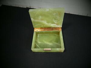 Vintage Onyx / Marble Trinket Box  -- 5 x 4 inches