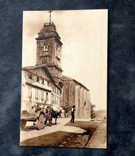 Carte Postale. URRUGNE. 64 - Église d'Urrugne. 1930. Attelage Bœufs. Roues Bois