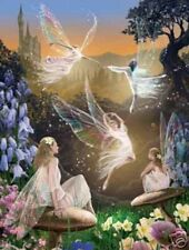White Matted Fairy Ballet Foil Art Print~Affordable Fantasy Art~8x10