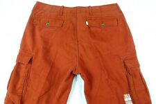 $64 New Mens LEVIS Cargo Mobil Pants 30 x 30 RED BRICK Loose Straight cotton