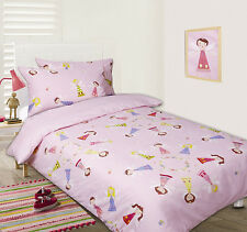 Girl's FAIRY RINGS Pink Glow In The Dark~SINGLE Size Quilt Doona Cover Set