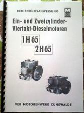BEDIENANWEISUNG 1 H65 2 H65 MOTOR 1H65 2H65 IFA MULTICAR W50 BARKAS DDR