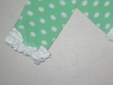 COUNTRY KIDS Cotton Ruffle Polka Dot Footless Tights 1-8Y Periwinkle Green